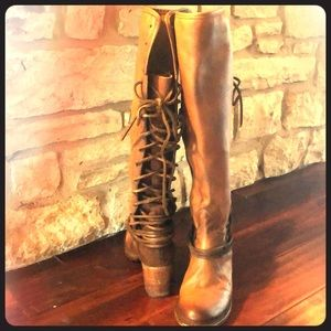 Freebird leather boots by Steven